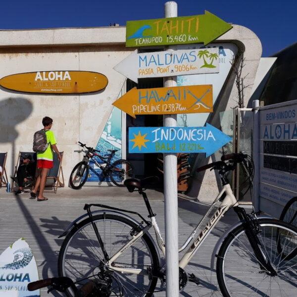 Onde alugar bicicletas em Vila do Conde no espaço Aloha Surf e SUP