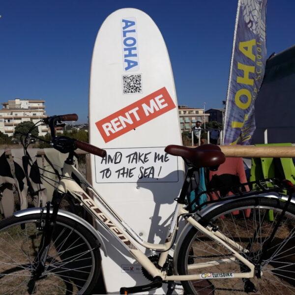 Aluguer de bicicletas em Vila do Conde no Aloha Surf & SUP