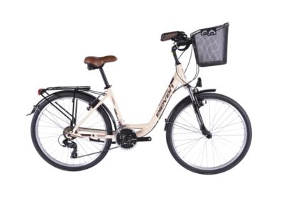 Bicicleta de cidade com cesto para alugar