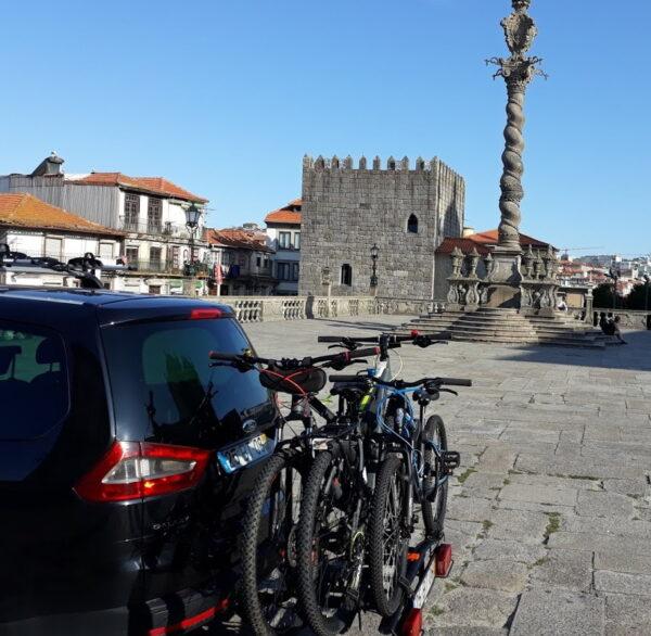 Transporte de bicicletas nas etapas do caminho de Santiago