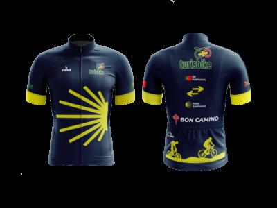 Camisola de ciclismo motivo de Caminho Santiago de Compostela