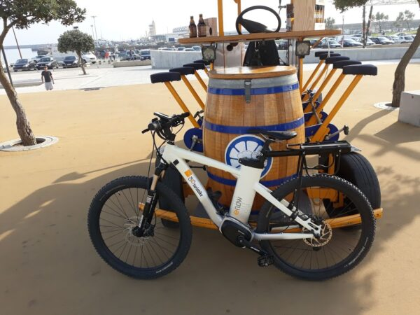 Rent a bicycle with 10 pedal seats